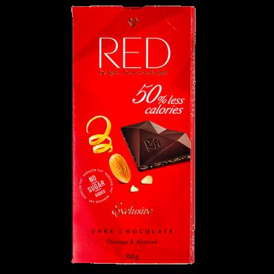 шоколад RED Delight DARK Orange & Almond 100 г 1 уп. х 20 шт.