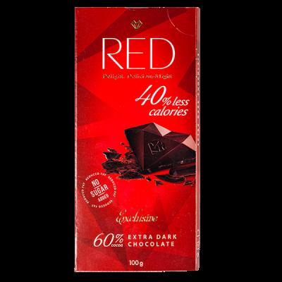 шоколад RED Delight EXTRA DARK 60% 100 г 1 уп. х 20 шт.