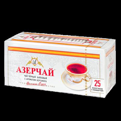 чай АЗЕРЧАЙ Черный с бергамотом 25 пакетиков с конвертом 1 уп.х 24 шт.