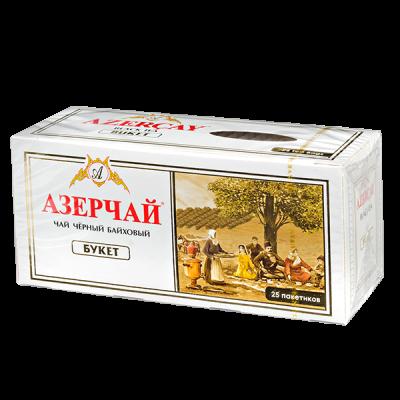 чай АЗЕРЧАЙ БУКЕТ 25 пакетиков с конвертом 1 уп.х 24 шт.