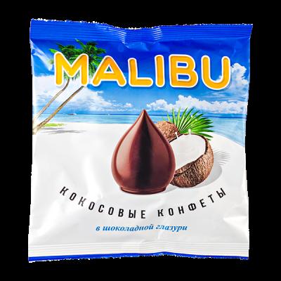 конфеты MALIBU кокосовые в шокол глазури 140 г 1 уп.х 10 шт.