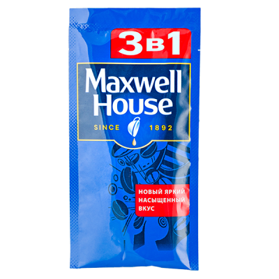 напиток кофейный Максвел Хаус 3 в 1 15г 1 уп.* 12шт.