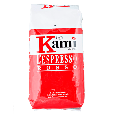 кофе CAFFE KAMI ROSSO 1 кг зерно 1 уп.х 6 шт.