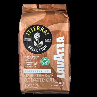 кофе LAVAZZA TIERRA SELECTION 1 кг зерно 1 уп.х 6 шт.
