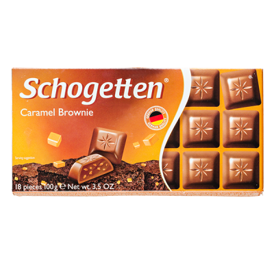 шоколад SCHOGETTEN Caramel Brownie 100 г 1уп. х 15шт.