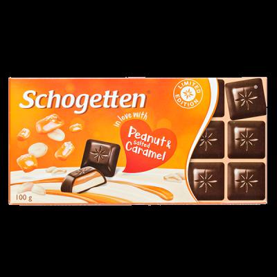 шоколад SCHOGETTEN Peanut & salted Caramel 100 г 1уп. х 15шт.