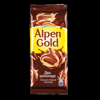 шоколад Альпен Гольд Два Шоколада 85 г 1 уп.х 21 шт.
