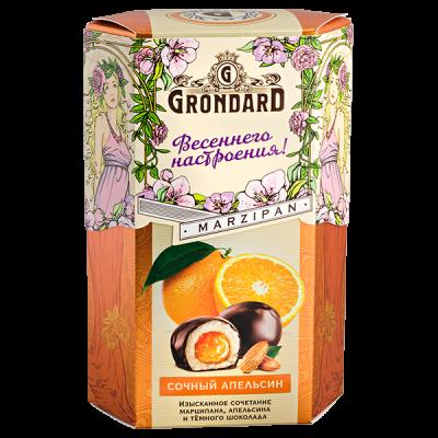 конфеты GRONDARD МАРЦИПАН с апельсином в шок. глазури 140 г 1 уп. х 10 шт.