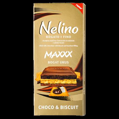 шоколад Nelino Choco & Biscuit 97 г 1уп.х 40шт