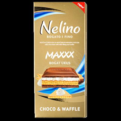 шоколад Nelino Choco & Waffle 80 г 1уп.х 40шт