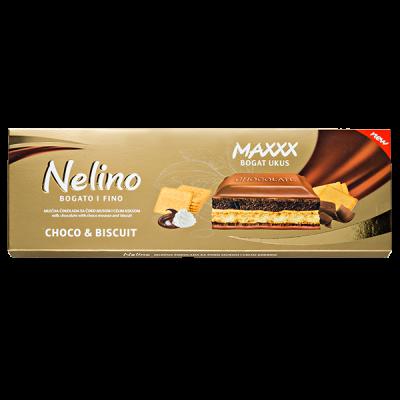 шоколад Nelino Choco & Biscuit 225 г 1уп.х 12 шт