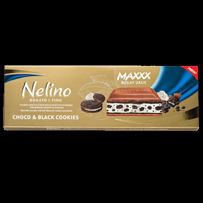 шоколад Nelino Choco & Black Cookies 250 г 1уп.х 12 шт