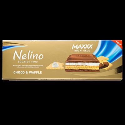 шоколад Nelino Choco & Waffle 190 г 1уп.х 12 шт