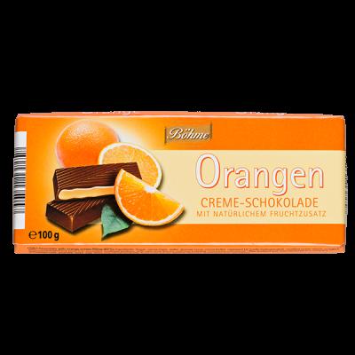 шоколад BOHME Orangen темный с апельсиновой начинкой 100 г 1уп.х 20шт