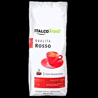 кофе ITALCO QUALITA ROSSO 1 кг зерно 1 уп.х 6 шт.