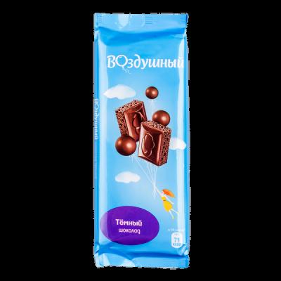 шоколад Воздушный Темный 85 г 1 уп.х 20 шт.