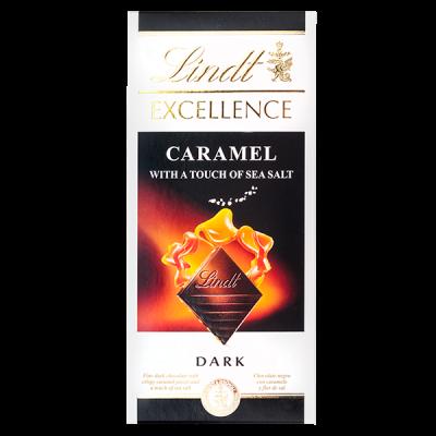 шоколад LINDT EXCELLENCE CARAMEL - SEA SALT 100 г 1уп.х 20шт.