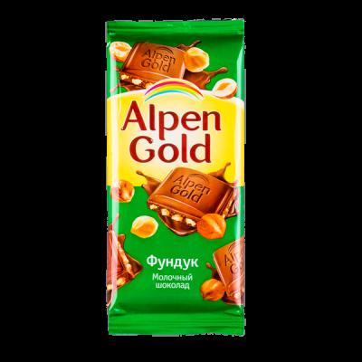 шоколад Альпен Гольд Фундук 90 г 1уп.х 20шт.