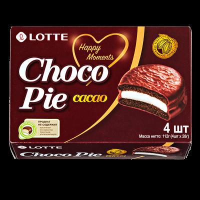 печенье ЧОКОПАЙ ЛОТТЕ какао 112 г  1 уп. х 20 шт.