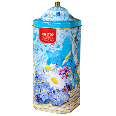чай HILLTOP подарочный восьмигранник 'ВЕСЕННЯЯ АКВАРЕЛЬ' ж/б 125 г 1 уп.х 16 шт.