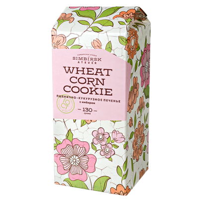 печенье SA пшенично-кукурузное с имбирем 130 г 1 уп.х 10 шт.