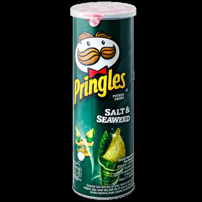 чипсы PRINGLES Salt & Seaweed 107 г 1 уп. х 12 шт.