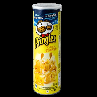 чипсы ПРИНГЛС Сыр 165 г 1 уп. х 19 шт.