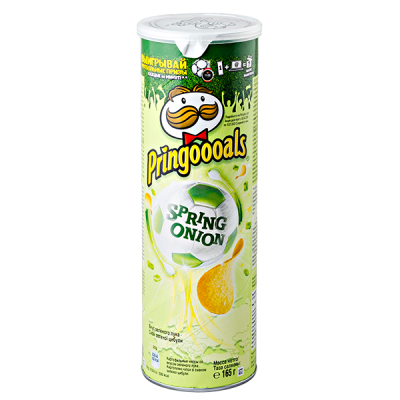 чипсы ПРИНГЛС Зеленый лук 165 г 1 уп. х 19 шт.
