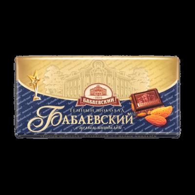 шоколад Бабаевский Темный с Миндалем 100 г 1уп.х 15шт.