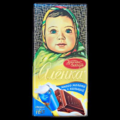 шоколад Аленка Много молока 90 г 1 уп.х 15 шт.