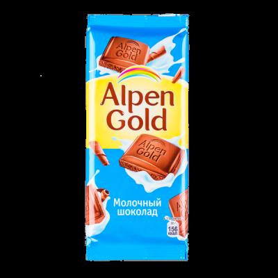 шоколад Альпен Гольд Молочный 90 г 1 уп.х 20 шт.
