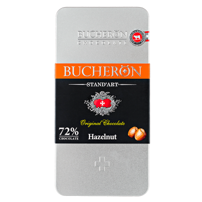 шоколад BUCHERON ж/б 72% Горький с Фундуком 100 г 1уп.х 10 шт.