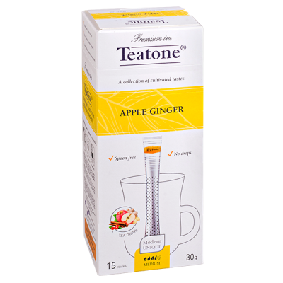чай TEATONE 'APPLE GINGER' 15 стиков 1 уп.х 12 шт.
