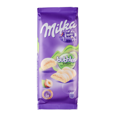шоколад Милка Баблс Белый Пористый с Фундуком 79 г 1 уп.х 16 шт.