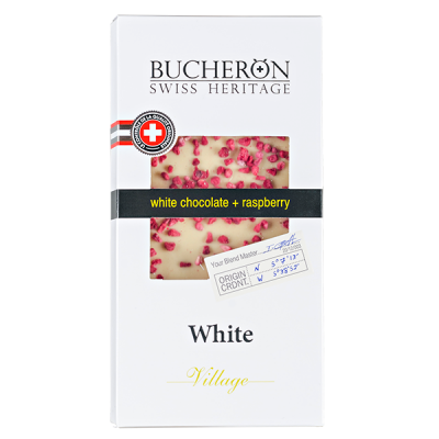 шоколад BUCHERON VILLAGE Белый с Малиной 100 г 1уп.х 10шт.
