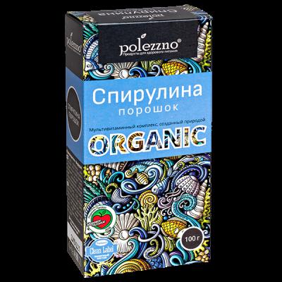 POLEZZNO СПИРУЛИНА ПОРОШОК Organic 100 г  1 уп.х 21 шт.