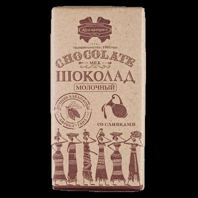 шоколад Коммунарка Молочный со сливками Крафт 90 г 1уп.х 20шт.