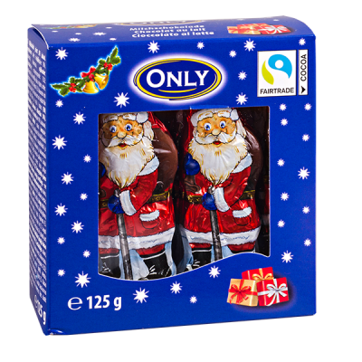 шоколад НГ ONLY Санта Клаус в коробочке 125 г 1 уп.х 28 шт.
